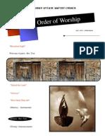 Order of Worship 07 11 2010 v1