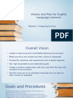 visions and plan for english language learners