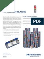 USA Range_Piston Accumulators Datasheet