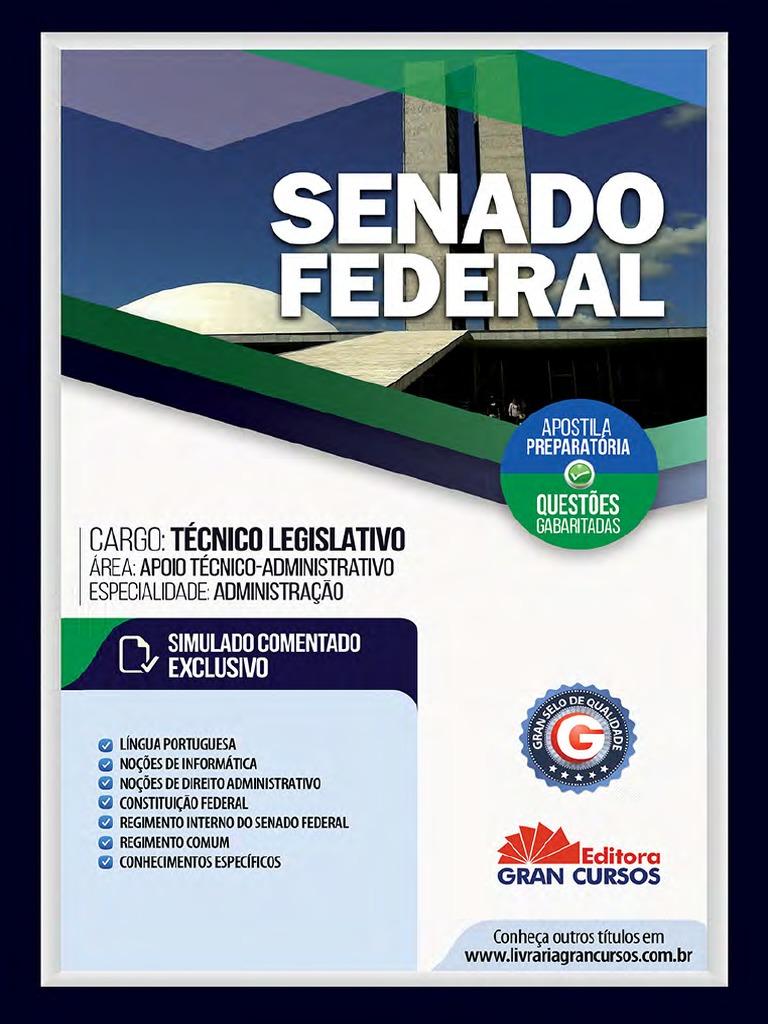 328c792591 Senado Federal Tecnico Legislativo Administracao 7898620620325