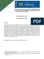 Informações Paramétricas para Orçamentos Expeditos de Infraestrutura de Loteamentos Urbanos na Região Norte Central Paranaense