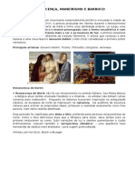 Texto Renascenca Maneirismo e Barroco