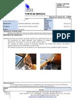Reporte de Servicio 41 Antena