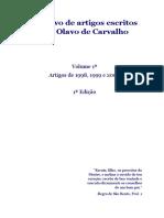 Arquivo de Artigos Escritos Por Olavo de Carvalho - 1998 a 2000