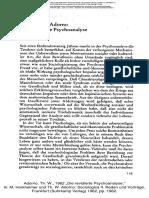 Adorno - Revidierte Psychoanalyse
