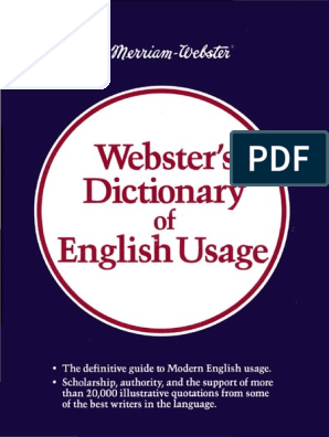 Websters Dictionary of English Usage | Dictionary | English
