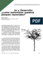 Conservacion y Desarrollo , Como Administrar Nuestros PN (Gutman, 1985)