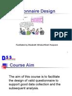 Questionnaire Design Dss