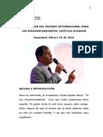 Declaracion Del Decenio - Ecuador