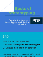 Stereotyping, Prejudice Presentation