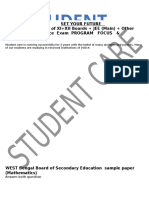 West Bengal Board of Secondary Education Sample Paper
