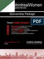 TEDxMontrealWomen Sponsorship Kit