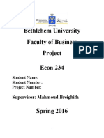 Project  SPSS 2016