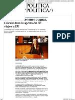 11-12-17 Senado No Debe Tener Pugnas, Cuevas Tras Suspensión de Viajes a EU - Grupo Milenio