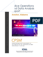Police Operations and Data Analysis Report, Anniston, Alabama