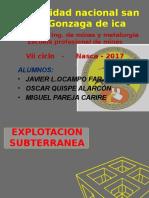 Caving y Camaras y Pilares