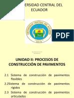 Unidad II Procesos de Construcción de Pavimentos