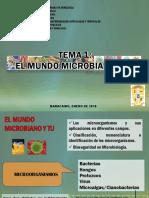 Tema 1 El Mundo Microbiano (1)