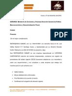 Cotizacion Min Eco y Finanzas