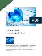 Las Variables Macroeconómicas