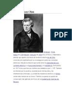 Georg Simon Ohm y Michael Faraday