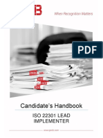 Pecb Candidate Handbook Iso 22301 Lead Implementer