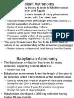 Origin of Modern Astronomy