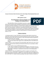Judicial Review Board Report