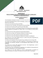 Projet de Loi portant réorganisation et modernisation de la  Formation Technique et Professionnelle en Haïti.