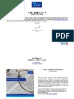 CATÁLOGO TALLERES FEBRERO - MARZO - ABRIL 2017 V1 15.02.2017 rb ok