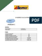 Ip Address Calculating ( Job Sheet 1)