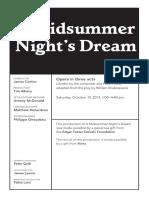 Oct 19 Midsummer Night's Dream