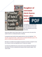 Daughter of MI6 ASSET Omer Bakri  Pole Dancing Revelations