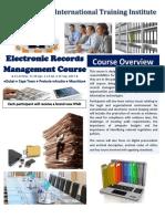 ELECTRONIC RECORDS MANAGEMENT COURSE - CAPE TOWN AND DUBAI - 2017