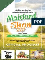 2017 Maitland Show Program