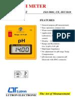 DIJUAL PH METER LUTRON PH-202