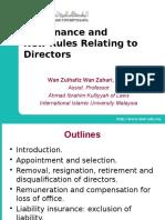 Workshop on New Co Act - Governance & Directors