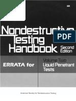 NDT - Liquid Penetrant