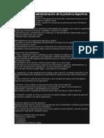 Organización y administración de la práctica deportiva