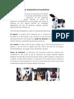 El Microscopio Metalográfico