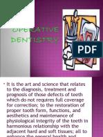Mod 1 Operative Dentistry
