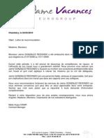 Lettre de recommandation professionnelle lettre de recommandation altavistaventures Choice Image