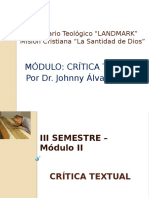 Seminario Landmark Crítica Textual