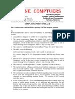 Sample Prepaid AMC Contract