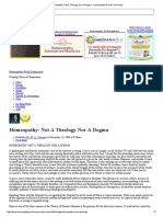 Homeopathy_ Not a Theology Nor a Dogma - Homeopathy World Community