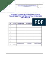 Aislador Polimerico Suspension Distribución V0