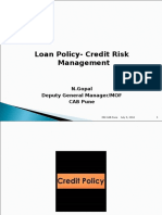 Loan Policy - Credit Risk Management
