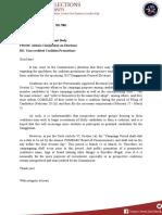 Memorandum on Unaccredited Coalition Promotions