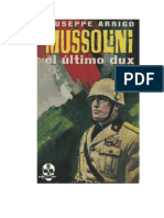 Mussolini El Ultimo Dux - Giuseppe Arrigo