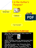 Authors Purpose Powerpoint